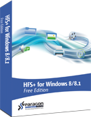 Paragon HFS+ für Windows® 8/8.1 Free